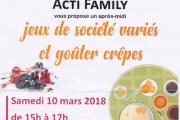 Jeux de société variés et goûter crêpes